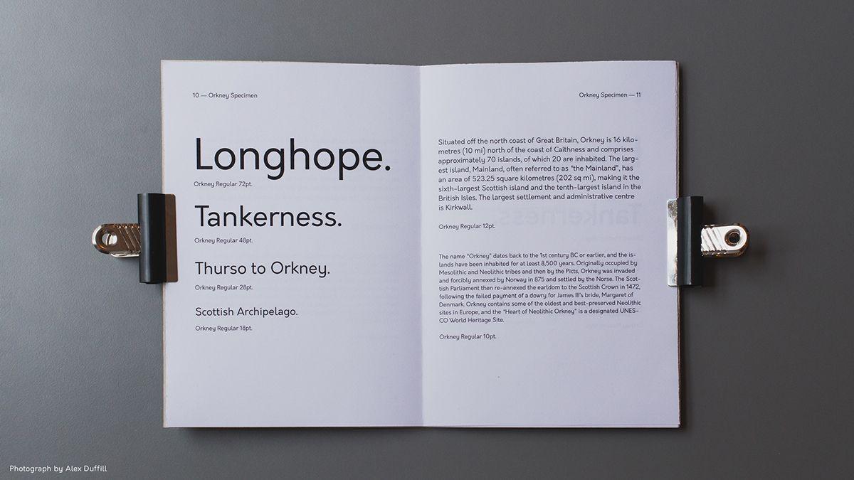Typographie - Orkney